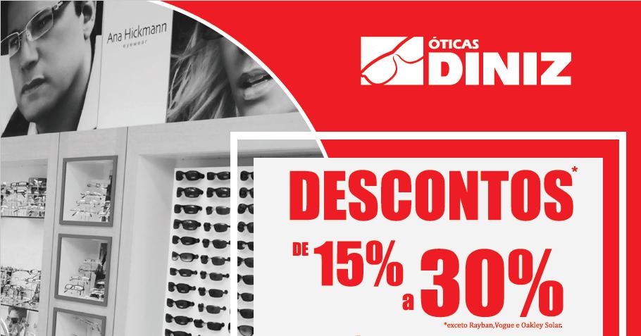 Óticas Diniz oferece até 30% de desconto para associados. Aproveite!    APCEFMG 796ee4e6c0